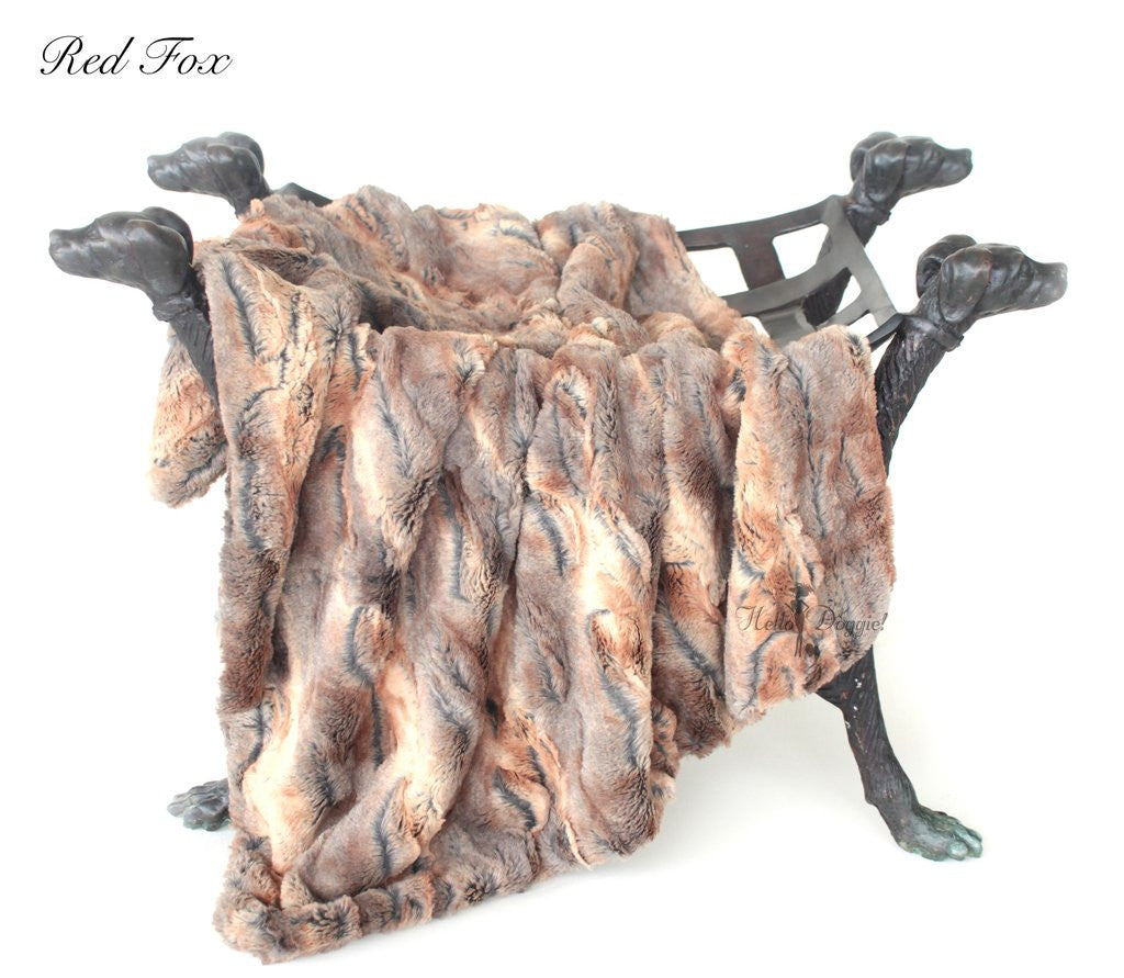 LUXE DOG BLANKET - RED FOX, Blankets - Bones Bizzness