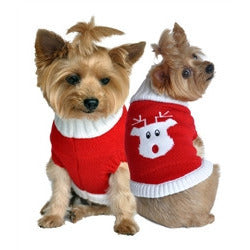 RED RUDOLPH DOG SWEATER, Sweaters - Bones Bizzness