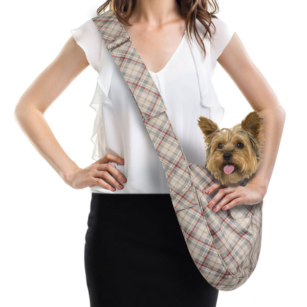 SCOTTY DOE PLAID CUDDLE DOG CARRIER, Carriers - Bones Bizzness