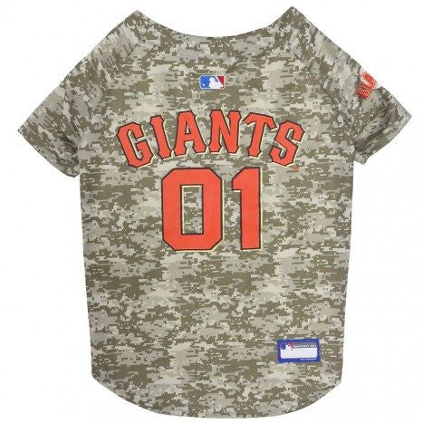 SAN FRANCISCO GIANTS DOG JERSEY – CAMO, MLB - Bones Bizzness