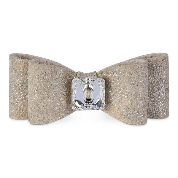 Champagne Glitzerati Single Big Bow Hair Bow