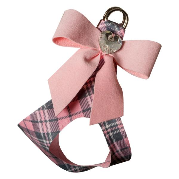 PUPPY PINK SCOTTY TAIL BOW STEP IN DOG HARNESS, Harness - Bones Bizzness