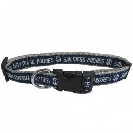 SAN DIEGO PADRES DOG COLLAR – RIBBON, MLB - Bones Bizzness