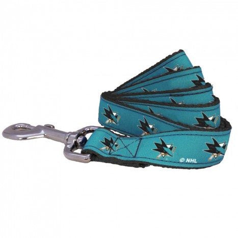 SAN JOSE SHARKS DOG LEASH – RIBBON, NHL - Bones Bizzness