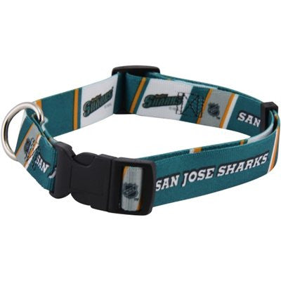 SAN JOSE SHARKS DOG COLLAR, NHL - Bones Bizzness