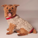 OATMEAL W/RED TRIM CABLE KNIT DOG SWEATER - Bones Bizzness