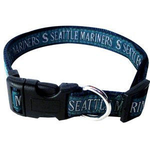 SEATTLE MARINERS DOG COLLAR – RIBBON, MLB - Bones Bizzness
