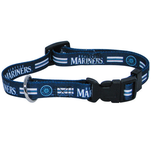 SEATTLE MARINERS DOG COLLAR, MLB - Bones Bizzness