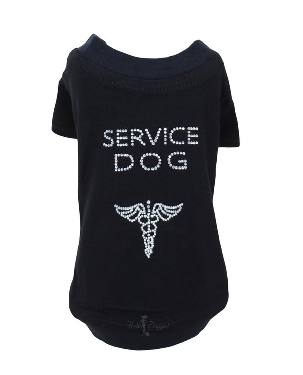SERVICE DOG SHORT SLEEVE TEE-SHIRT, Shirts Tanks & Tees - Bones Bizzness
