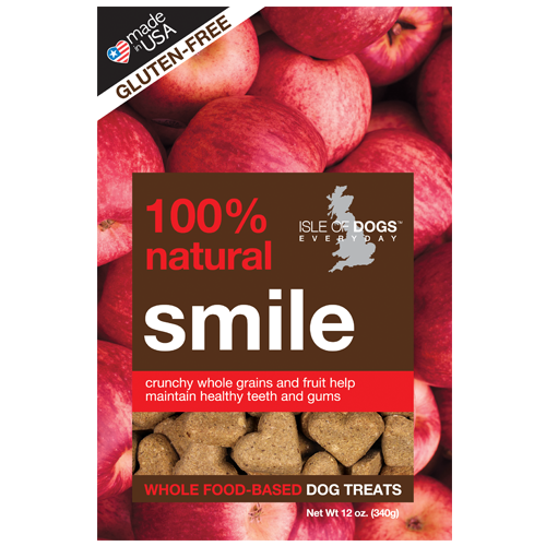 SMILE 100% NATURAL BAKED TREAT- FEATURING APPLES AND KELP, Treats - Bones Bizzness