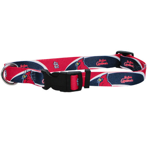 ST. LOUIS CARDINALS DOG COLLAR, MLB - Bones Bizzness