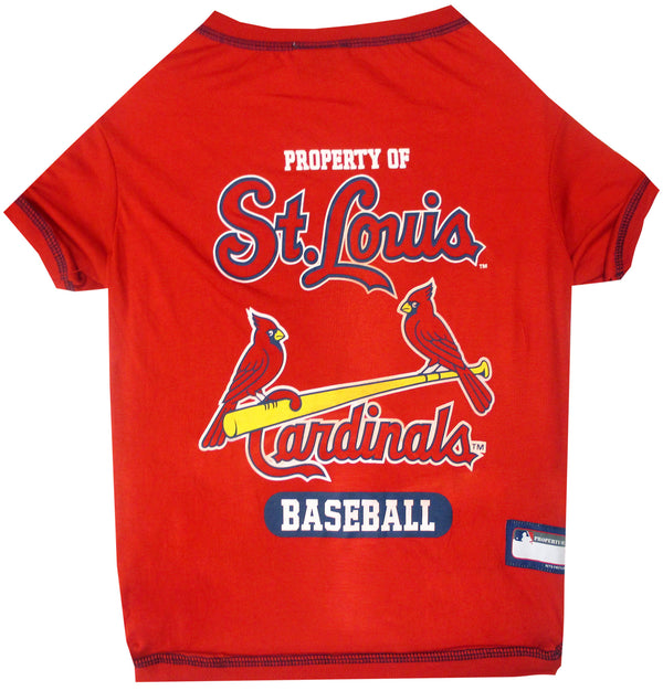 ST. LOUIS CARDINALS DOG TEE SHIRT – RED, MLB - Bones Bizzness
