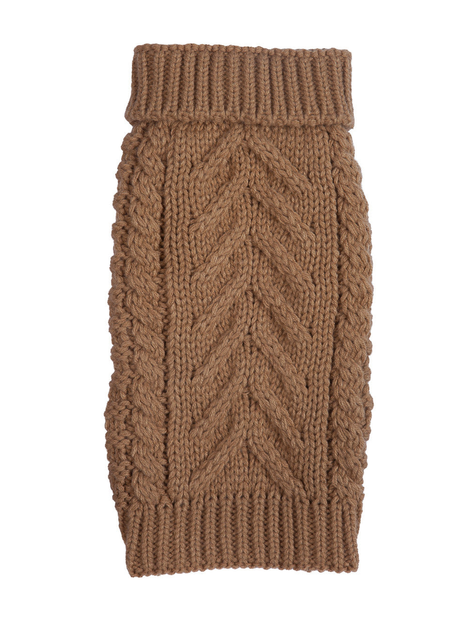 CAMEL SUPER CHUNKY DOG SWEATER, Sweaters - Bones Bizzness