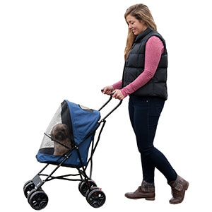 Travel Lite Pet Stroller - Navy, Strollers - Bones Bizzness