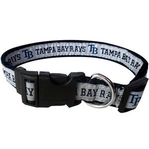 TAMPA BAY RAYS DOG COLLAR – RIBBON, MLB - Bones Bizzness
