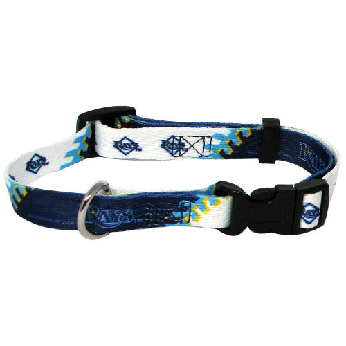 TAMPA BAY RAYS DOG COLLAR, MLB - Bones Bizzness