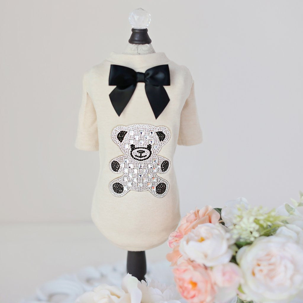 TEDDY BOW DOG TEE-SHIRT, Shirts Tanks & Tees - Bones Bizzness