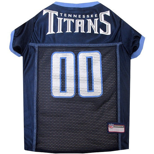 TENNESSEE TITANS DOG JERSEY- BLUE TRIM, NFL Jerseys - Bones Bizzness