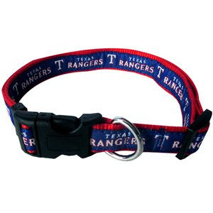 TEXAS RANGERS DOG COLLAR – RIBBON, MLB - Bones Bizzness