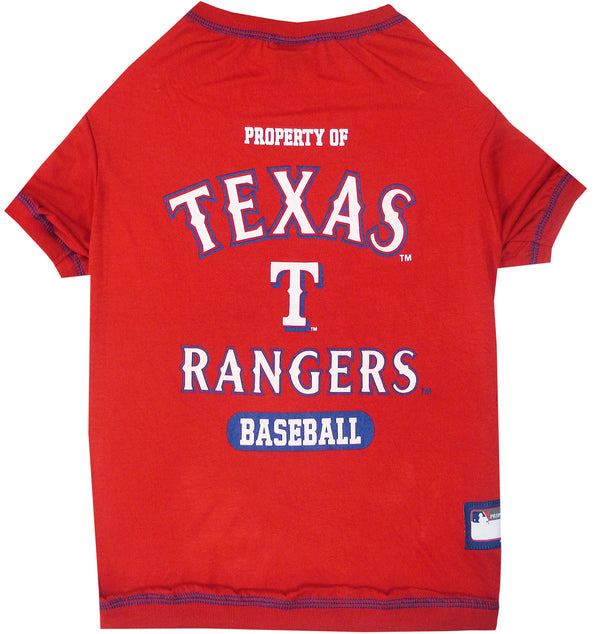 TEXAS RANGERS DOG TEE SHIRT, MLB - Bones Bizzness
