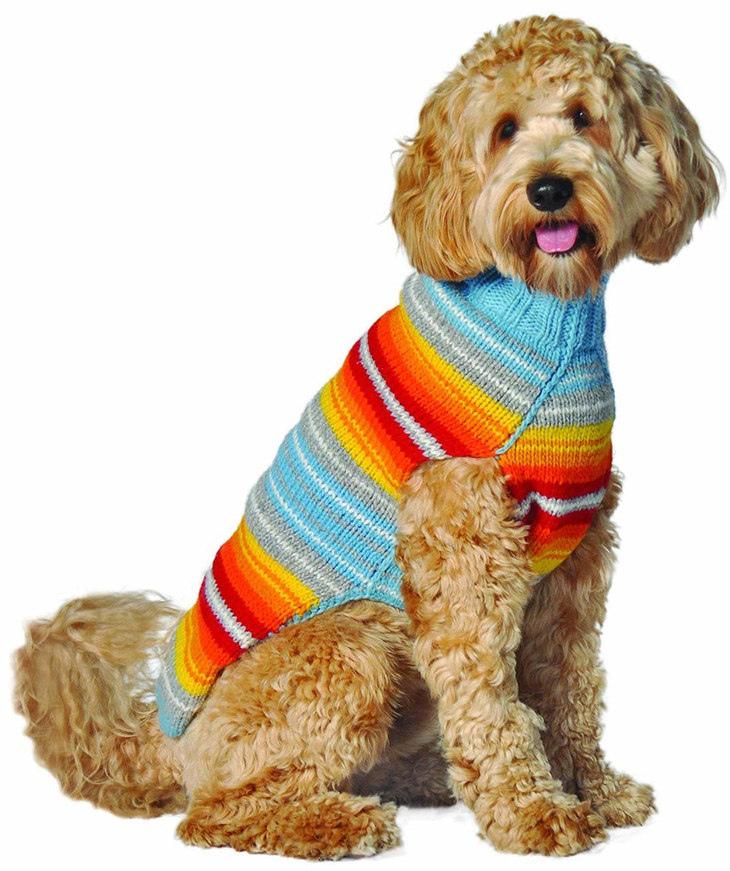 TURQ SERAPE DOG SWEATER