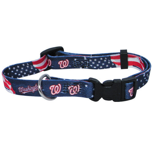 WASHINGTON NATIONALS DOG COLLAR, MLB - Bones Bizzness