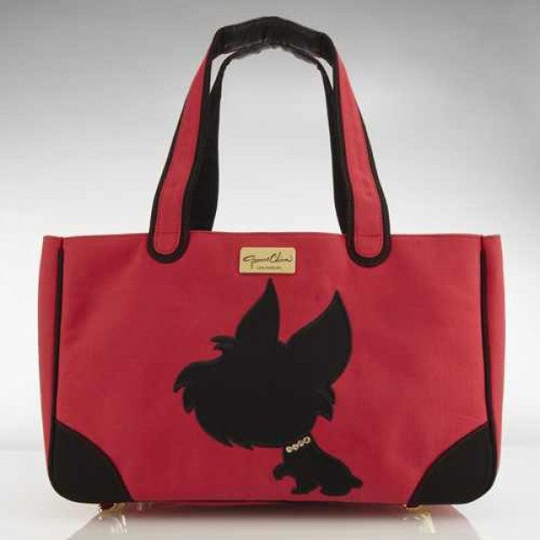 I LOVE NEW YORKIE RESCUE ME TOTE CANVAS DOG CARRIER RED, Carriers - Bones Bizzness