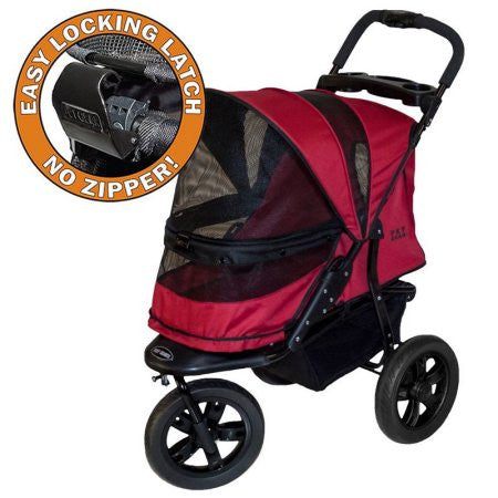 PET GEAR AT3 ALL TERRAIN NO ZIP DOG STROLLER - RED, STROLLERS - Bones Bizzness