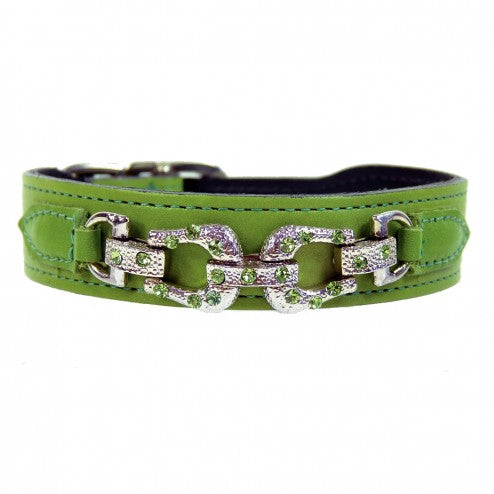AFTER EIGHT LIME GREEN DOG COLLAR