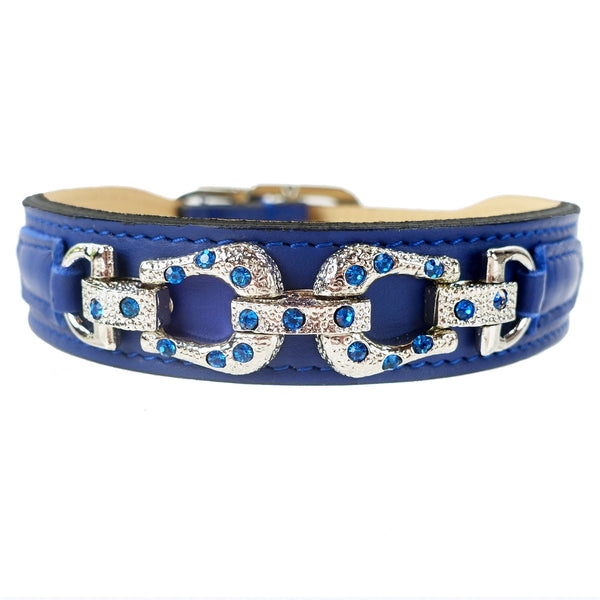 AFTER EIGHT COBALT BLUE DOG COLLAR, Collars - Bones Bizzness