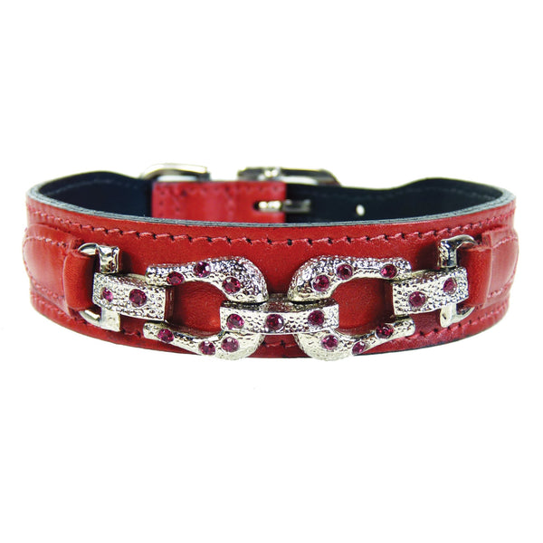 AFTER EIGHT FERRARI RED DOG COLLAR, Collars - Bones Bizzness