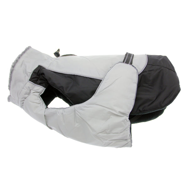 ALPINE ALL WEATHER DOG COAT BLACK & GRAY, Coats - Bones Bizzness