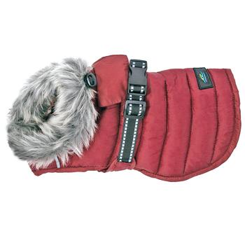 ALPINE EXTREME WEATHER PUFFER DOG COAT BURGUNDY