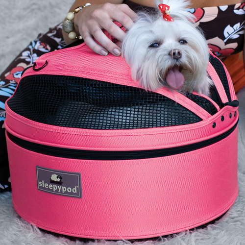 SLEEPYPOD ALL-IN-ONE PET BED - BLOSSOM PINK, Carriers - Bones Bizzness
