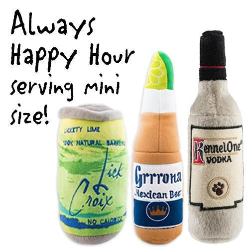 ALWAYS HAPPY HOUR MINI DOG TOY BUNDLE