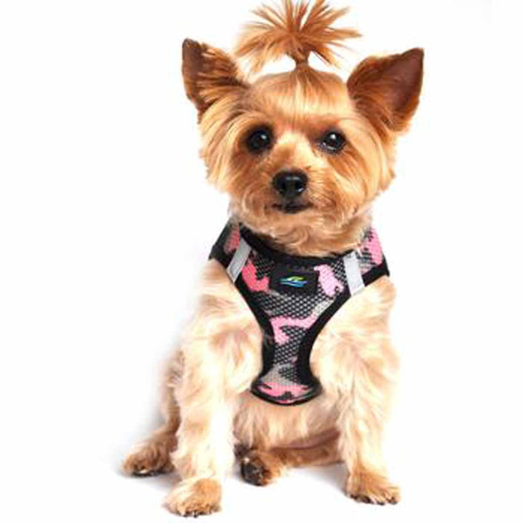 PINK CAMO AMERICAN RIVER CHOKE FREE DOG HARNESS OMBRE COLLECTION, Harness - Bones Bizzness