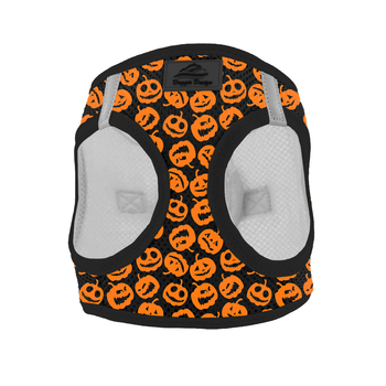 American River Choke Free Dog Harness  - Halloween Jack-o-Lanterns, Harness - Bones Bizzness