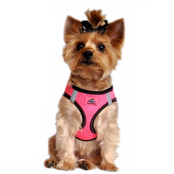 AMERICAN RIVER CHOKE FREE DOG HARNESS TOP STITCH COLLECTION - IRIDESCENT PINK, Harness - Bones Bizzness