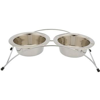 ARUBA ARCHED STAINLESS STEEL DOG BOWL