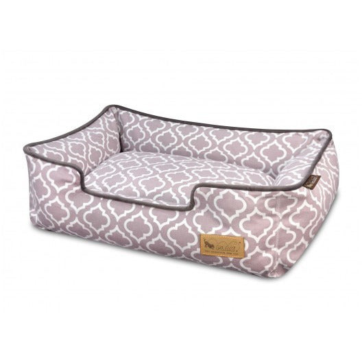 MOROCCAN ASH GRAY LOUNGE DOG BED, Beds - Bones Bizzness