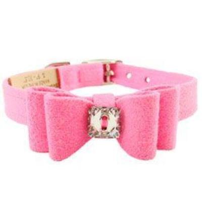 PERFECT PINK BIG BOW SWAROVSKI CRYSTAL DOG COLLAR, Collars - Bones Bizzness