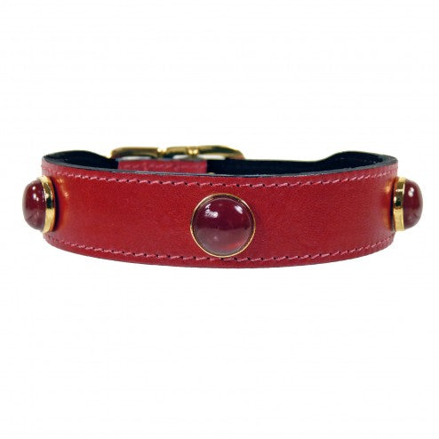 AU NATURALE IN CHERRY RED DOG COLLAR