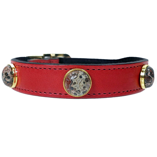 AU NATURALE IN FERRARI RED DOG COLLAR