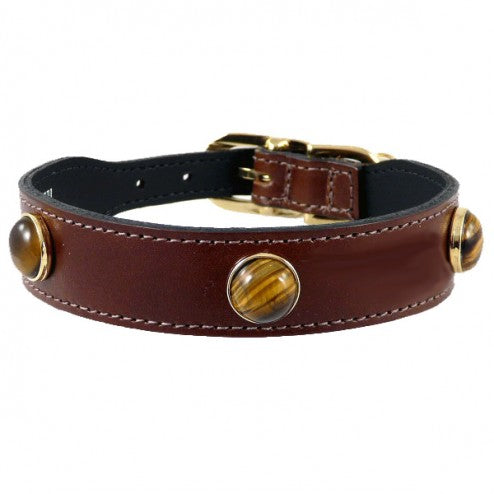 AU NATURALE IN BROWN DOG COLLAR