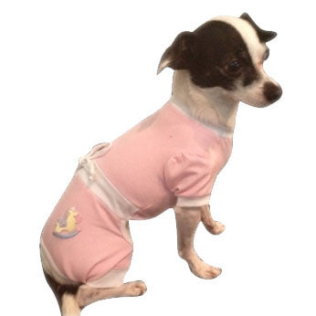 PINK SNUGGLE SUIT BLUE DOG JUMPER, Pajamas - Bones Bizzness