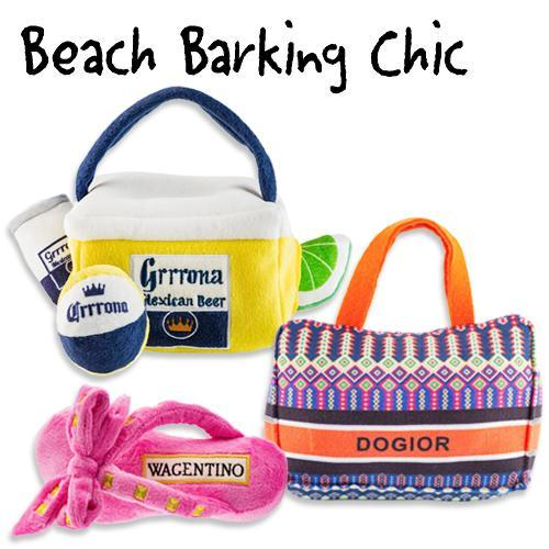 BEACH CHIC DOG TOY BUNDLE