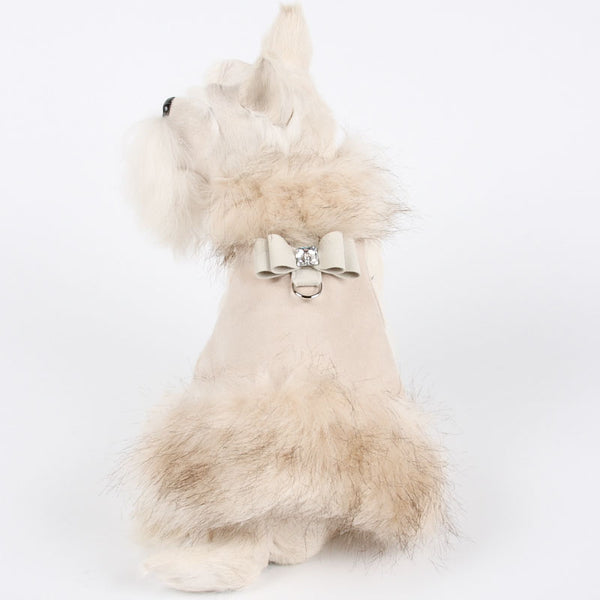 IVORY FOX BIG BOW DOG COAT BY SUSAN LANCI, Coats - Bones Bizzness