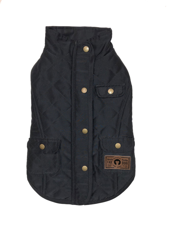 BLACK QUILTED BARN COAT