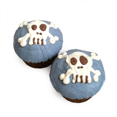 Bubba Rose Biscuit Company > BUBBA ROSE - BLUE PUNK ROCK SKULL CUPCAKES (CASE OF 6)