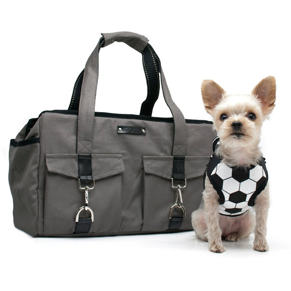 CHARCOAL BUCKLE TOTE BB DOG CARRIER, Carriers - Bones Bizzness